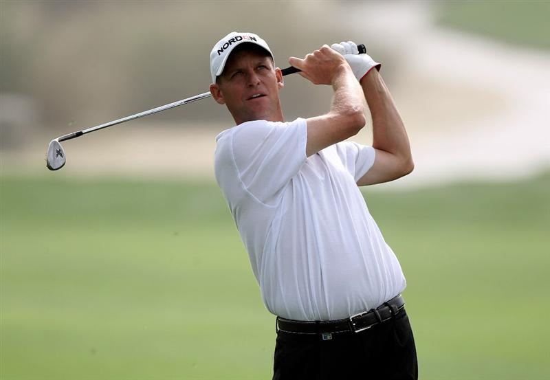 DUBAI, UNITED ARAB EMIRATES - FEBRUARY 04:  Anders Hansen of Denmark during the first round the Omega Dubai Desert Classic on the Majlis Course at the Emirates Golf Club on February 4, 2010 in Dubai, United Arab Emirates.  (Photo by Ross Kinnaird/Getty Images)