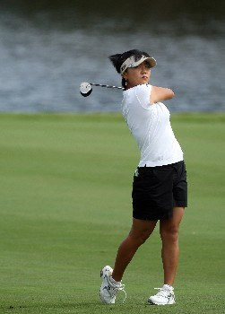 WEST PALM BEACH, FL - NOVEMBER 17:  Mi Hyun Kim of South Korea hits her second shot at the 9th hole during the third round of the 2007 ADT Championship held at the Trump International Golf Course, on November 17, 2007 in West Palm Beach, Florida.  (Photo by David Cannon/Getty Images)
