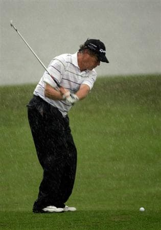 INCHEON, SOUTH KOREA - SEPTEMBER 10:  Michael Allen of United States plays a shot on the ninth hole during day one of PGA Champions Tour - Posco E&C Songdo Championship at Jack Nicklaus Golf Club on September 10, 2010 in Incheon, South Korea.  (Photo by Chung Sung-Jun/Getty Images)