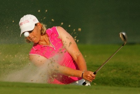 SOUTHERN PINES, NC - JUNE 28:  Wendy Ward plays a bunker shot on the 14th hole during round one of the U.S. Women's Open Championship at Pine Needles Lodge & Golf Club on June 28, 2007 in Southern Pines, North Carolina.  (Photo by Scott Halleran/Getty Images)