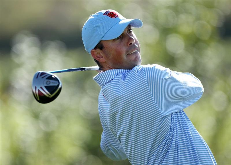 NEWPORT, WALES - SEPTEMBER 28:  Matt Kuchar of the USA hits a tee shot during a practice round prior to the 2010 Ryder Cup at the Celtic Manor Resort on September 28, 2010 in Newport, Wales.  (Photo by Andy Lyons/Getty Images)