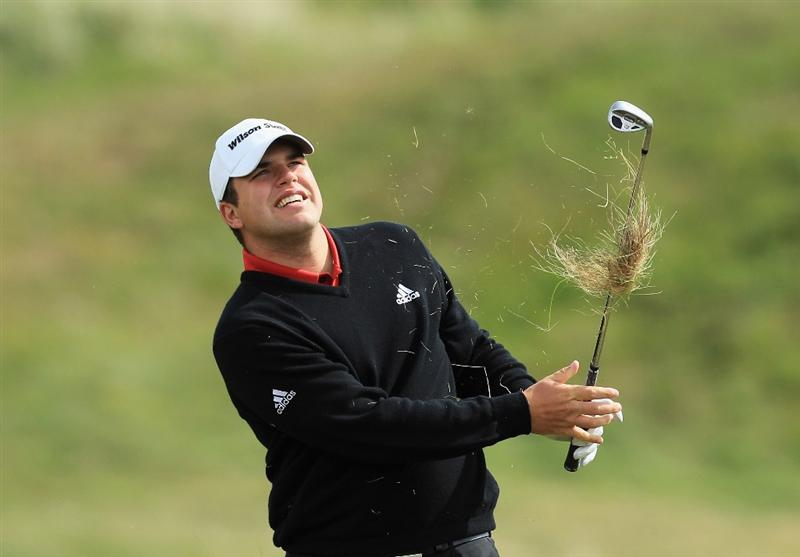 ABERDEEN, SCOTLAND - MAY 12:  Jack Senior of England during the 2011 Walker Cup Squad practice session at Royal Aberdeen Golf Club on May 12, 2011 in Aberdeen, Scotland.  (Photo by David Cannon/Getty Images)