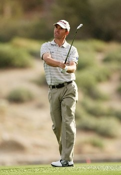 MARANA, AZ - FEBRUARY 20:  Padraig Harrington of Ireland hits his second shot on the fourth hole during the first round matches of the WGC-Accenture Match Play Championship at The Gallery at Dove Mountain on February 20, 2008 in Marana, Arizona.  (Photo by Stephen Dunn/Getty Images)
