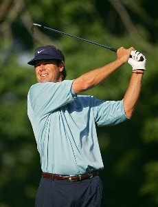 Paul Azinger during the first round the 2006 Wachovia Championship at the Quail Hollow Club in Charlotte, North Carolina on May 4, 2006.Photo by Sam Greenwood/WireImage.com
