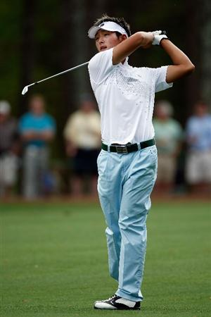 AUGUSTA, GA - APRIL 10:  Danny Lee of New Zealand hits his second shot on the 15th hole during the second round of the 2009 Masters Tournament at Augusta National Golf Club on April 10, 2009 in Augusta, Georgia.  (Photo by Jamie Squire/Getty Images)