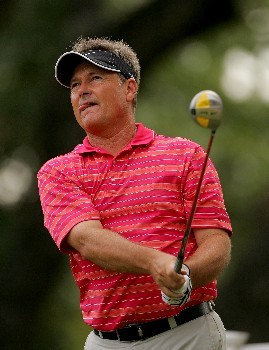 SAN ANTONIO - OCTOBER 21:  John Cook hits a shot on the 17th hole during the final round of the AT&T Championship at Oak Hills Country Club on October 21, 2007 in San Antonio, Texas.  (Photo by S.Greenwood/Getty Images)