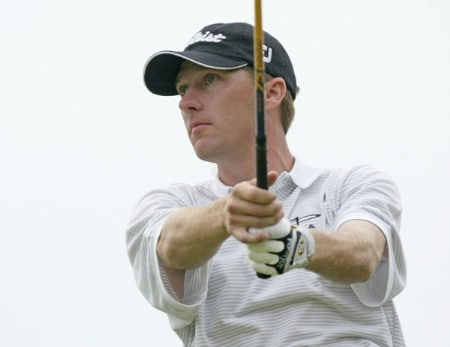 Aaron Barber in action during the first round of the 2005 National Mining Association's Pete Dye Classic at  Pete Dye Golf Club in Bridgeport, West Virginia on Thursday, July 7, 2005.Photo by Hunter Martin/WireImage.com