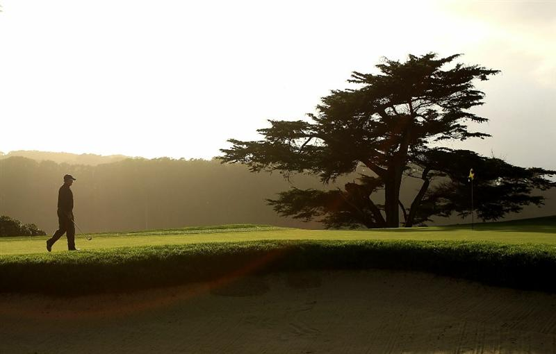 SAN FRANCISCO - NOVEMBER 07:  John Cook walks on to the green on the 16th hole during the final round of the Charles Schwab Cup Championship at Harding Park Golf Course on November 7, 2010 in San Francisco, California.  (Photo by Ezra Shaw/Getty Images)