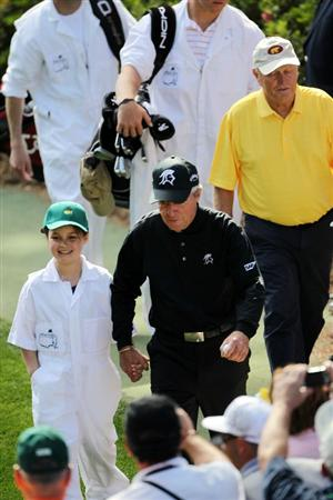 AUGUSTA, GA - APRIL 06:  Gary Player of South Africa walks in front of the gallery during the Par 3 Contest prior to the 2011 Masters Tournament at Augusta National Golf Club on April 6, 2011 in Augusta, Georgia.  (Photo by Jamie Squire/Getty Images)