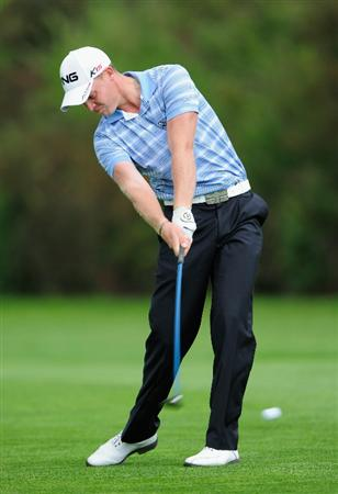 VIENNA, AUSTRIA - SEPTEMBER 18:  Danny Willett of England plays his approach shot on the sixth hole during the third round of the Austrian golf open presented by Botarin at the Diamond country club on September 18, 2010 in Atzenbrugg near Vienna, Austria.  (Photo by Stuart Franklin/Getty Images)