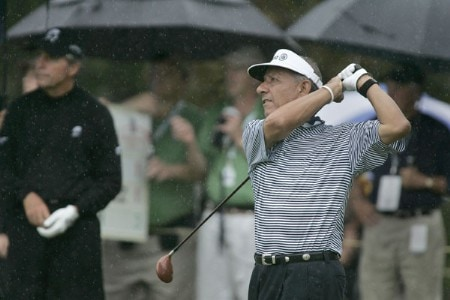 Vicente Fernandez in action during the first round of the Greater Hickory Classic at Rock Barn on the Jones Course  in Conover, North Carolina on October 7, 2005.Photo by Michael Cohen/WireImage.com