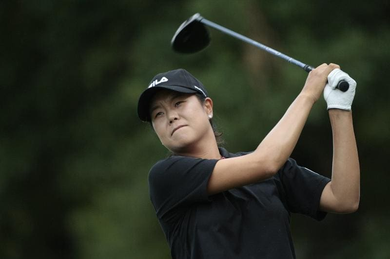 MOBILE, AL - MAY 16:  Hee-Won Han of South Korea hits her drive on the third hole during final round play in the Bell Micro LPGA Classic at the Magnolia Grove Golf Course on May 16, 2010 in Mobile, Alabama.  (Photo by Dave Martin/Getty Images)