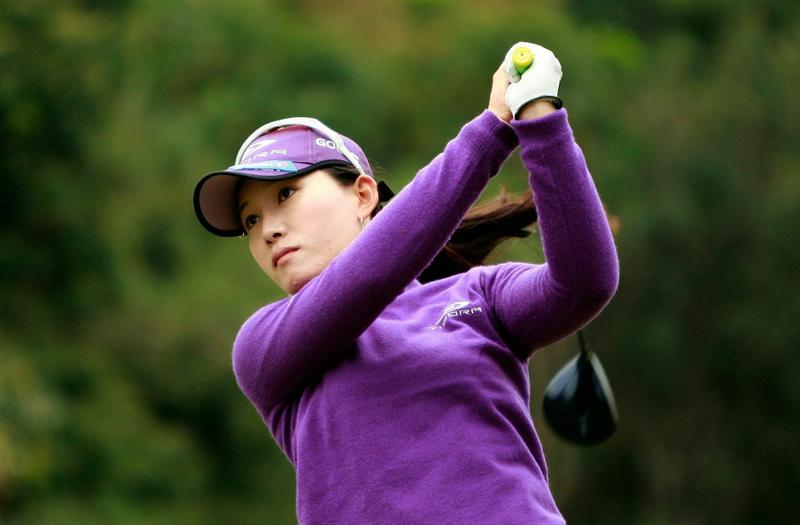SHIMA, JAPAN - NOVEMBER 07:  Eun-A Lim of South Korea plays a shot on the 3rd hole during the final round of the Mizuno Classic at Kintetsu Kashikojima Country Club on November 7, 2010 in Shima, Japan.  (Photo by Chung Sung-Jun/Getty Images)