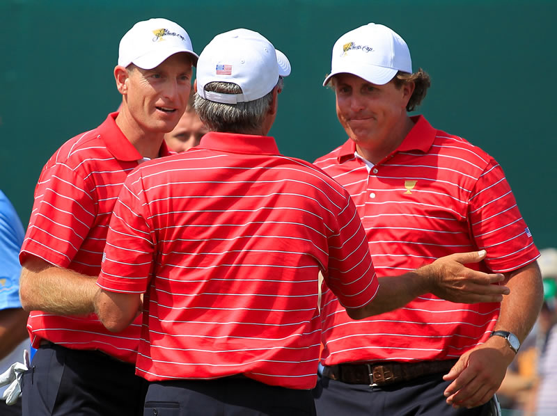 Jim Furyk, Fred Couples and Phil Mickelson