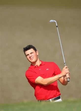 SHENZHEN, CHINA - NOVEMBER 26:  Martin Kaymer of Germany plays his approach shot during the pro - am of the Omega Mission Hills World Cup at the Mission Hills Resort on November 26, 2008 in Shenzhen, China.  (Photo by Stuart Franklin/Getty Images)