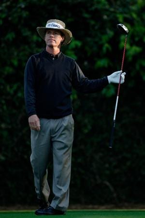 AUGUSTA, GA - APRIL 09:  Briny Baird hits his tee shot on the second hole during the first round of the 2009 Masters Tournament at Augusta National Golf Club on April 9, 2009 in Augusta, Georgia.  (Photo by Jamie Squire/Getty Images)