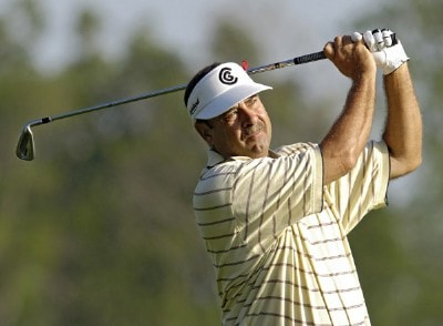 Brad Bryant during the first round of the Liberty Mutual Legends of Golf at Westin Savannah Harbor Golf Resort & Spa in Savannah, Georgia, on April 21, 2006.Photo by Steve Levin/WireImage.com