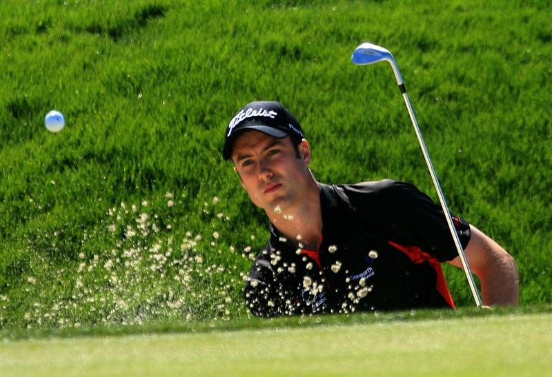 MARANA, AZ - FEBRUARY 27:  Ross Fisher of England plays a bunker shot on the second hole during the third round of the Accenture Match Play Championship at the Ritz-Carlton Golf Club at Dove Mountain on February 27, 2009 in Marana, Arizona.  (Photo by Scott Halleran/Getty Images)