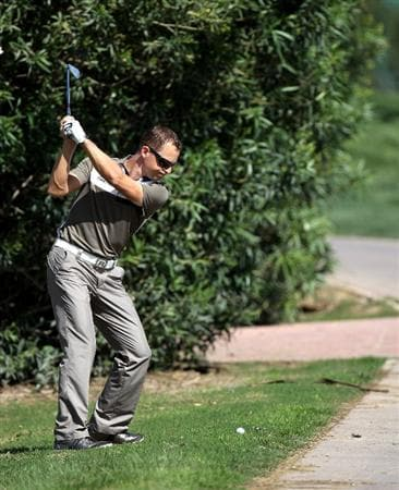 SEVILLE, SPAIN - APRIL 28: Niclas Fasth of Sweden on the par five 9th hole during the pro-am event prior to the Open de Espana at the Real Club de Golf on April 28, 2010 in Seville, Spain.  (Photo by Ross Kinnaird/Getty Images)