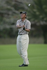 Isao Aoki in action during the Thursday Pro Am at the 2006 Turtle Bay Championship - Turtle Bay Resort,  Kahuku, Oahu, HawaiiPhoto by: Chris Condon/PGA TOUR