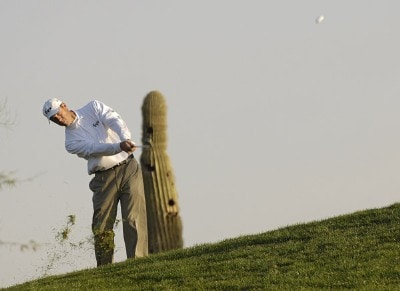 Jeff Brehaut in action during the first round of the FBR Open at the TPC Players Course on Thursday, February 2, 2006 in Scottsdale, Arizona.Photo by Marc Feldman/WireImage.com