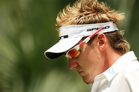 PONTE VEDRA BEACH, FL - MAY 09:  Ian Poulter of England walks off the first green during the second round of THE PLAYERS Championship on THE PLAYERS Stadium Course at TPC Sawgrass on May 9, 2008 in Ponte Vedra Beach, Florida.  (Photo by Richard Heathcote/Getty Images)