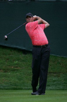 Shaun Micheel during the second round of THE PLAYERS Championship at the Tournament Players Club at Sawgrass in Ponte Vedra Beach, Florida on March 26, 2005.