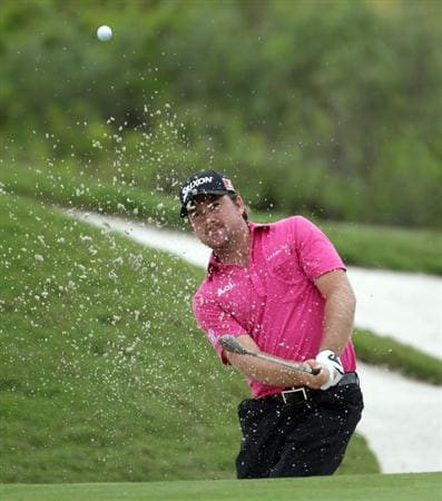 CASARES, SPAIN - MAY 19:  Graeme McDowell of Northern Ireland on the par five 3rd hole during the group stages of the Volvo World Match Play Championship at Finca Cortesin on May 19, 2011 in Casares, Spain.  (Photo by Ross Kinnaird/Getty Images)
