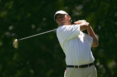 Bo Van Pelt during the final round of the Barclays Classic held at Westchester Country Club in Rye, New York on June 11, 2006.