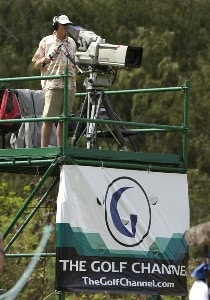 The Golf Channel is setup for boradcasting behind the 18th green during   the second round  at the 2006 SBS Open at Turtle Bay February 17 at Kahuku, Hawaii.Photo by Al Messerschmidt/WireImage.com