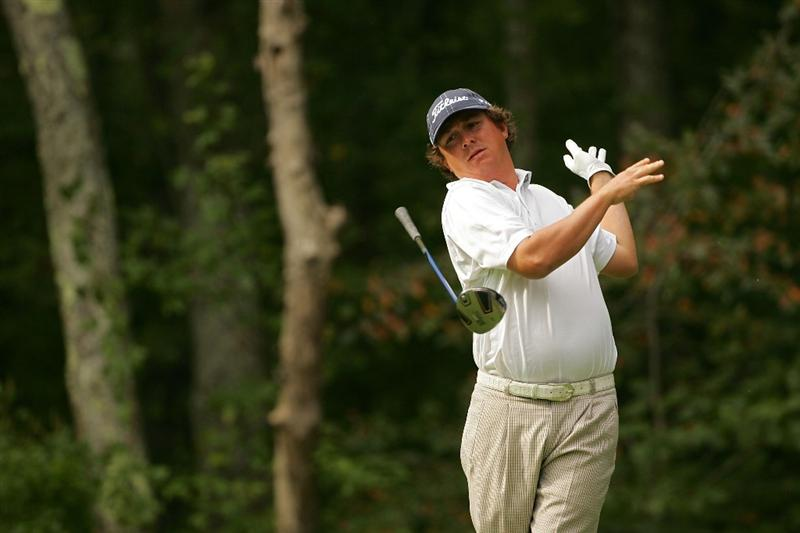 NORTON, MA - SEPTEMBER 05:  Jason Dufner of the United States lets go of his driver during the second round of the Deutsche Bank Championship at TPC Boston held on September 5, 2009 in Norton, Massachusetts.  (Photo by Michael Cohen/Getty Images)
