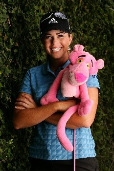 SUPERSTITION MOUNTAIN, AZ - MARCH 21:  LPGA player Paula Creamer poses for a portrait prior to the start of the Safeway International at the Superstition Mountain Golf and Country Club on March 21, 2007 in Superstition Mountain, Arizona.  (Photo by Scott Halleran/Getty Images)