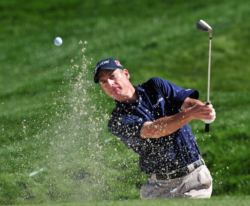 MARANA, AZ - FEBRUARY 27:  Jim Furyk of USA plays his bunker shot on the third hole during the third round of Accenture Match Play Championships at Ritz - Carlton Golf Club at Dove Mountain on February 27, 2009 in Marana, Arizona.  (Photo by Stuart Franklin/Getty Images)