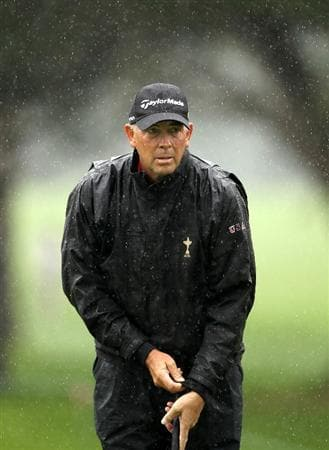 SAN FRANCISCO - NOVEMBER 07:  Tom Lehman waits to putt on the 5th hole during the final round of the Charles Schwab Cup Championship at Harding Park Golf Course on November 7, 2010 in San Francisco, California.  (Photo by Ezra Shaw/Getty Images)