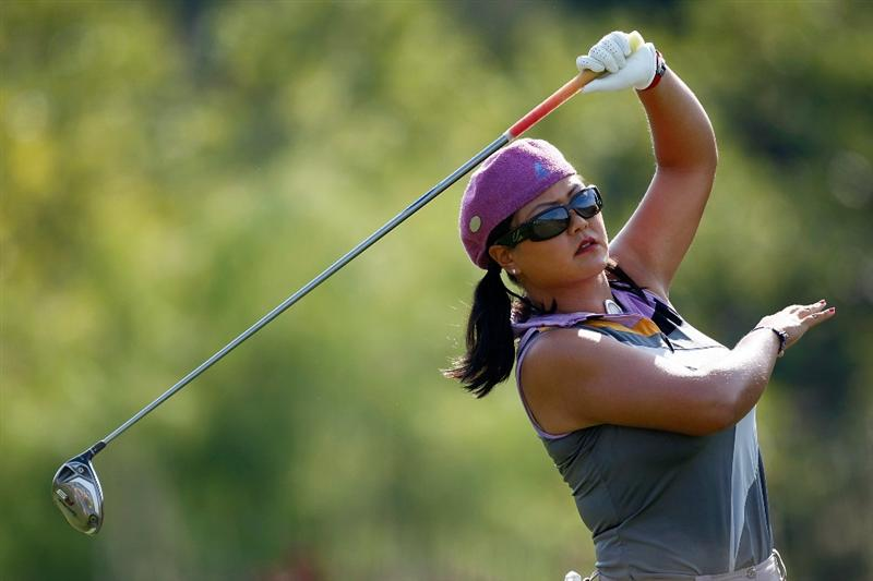 DANVILLE, CA - SEPTEMBER 27:  Christina Kim tees off on the 3rd hole during the final round of the CVS/pharmacy LPGA Challenge at Blackhawk Country Club on September 27, 2009 in Danville, California.  (Photo by Jonathan Ferrey/Getty Images)