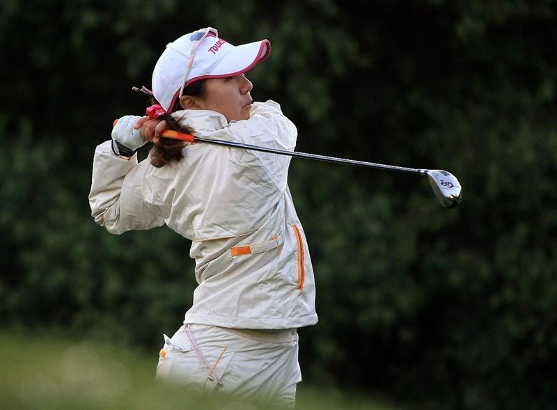 HUIXQUILUCAN, MEXICO - MARCH 20:  Mika Miyazato of Japan hits her tee shot on the 11th hole during the first round of the MasterCard Classic at the BosqueReal Country Club on March 20, 2009 in Huixquiucan, Mexico.  (Photo by Scott Halleran/Getty Images)