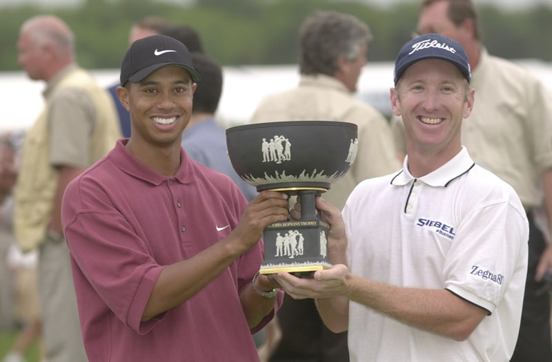 Tiger Woods and David Duval