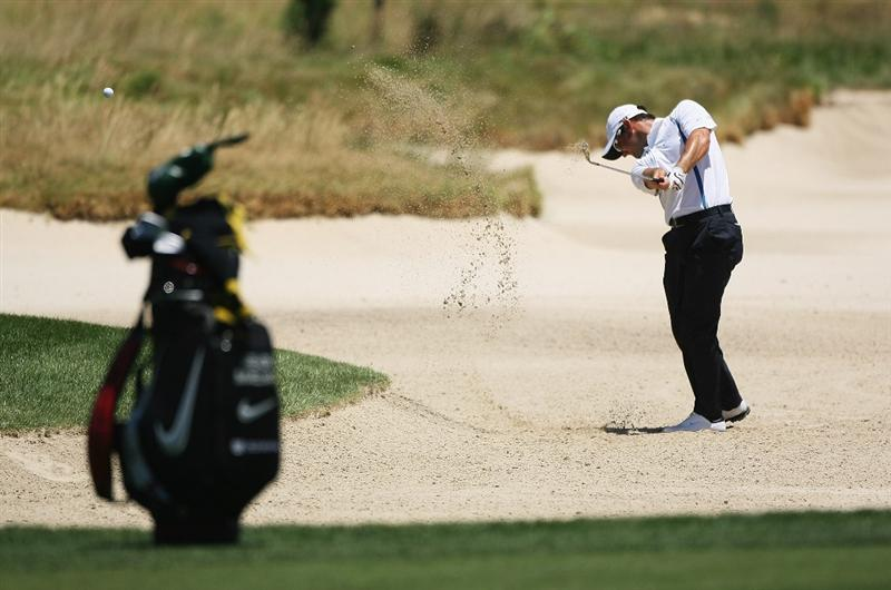 PAARL, SOUTH AFRICA - DECEMBER 17:  Trevor Immelman of South Africa plays out of the fifth fairway bunker during the pro-am of the South African Open Championship at Pearl Valley Golf Club on December 17, 2008 in Paarl, South Africa.  (Photo by Warren Little/Getty Images)