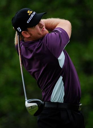 PALM COAST, FL - OCTOBER 31:  J.B. Holmes plays a shot on the 13th hole during the second round of the Ginn sur Mer Classic at the Conservatory Golf Club on October 31, 2008 in Palm Coast, Florida.  (Photo by Sam Greenwood/Getty Images)