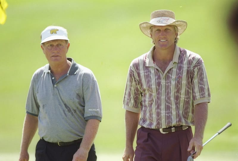 Jack Nicklaus and Greg Norman