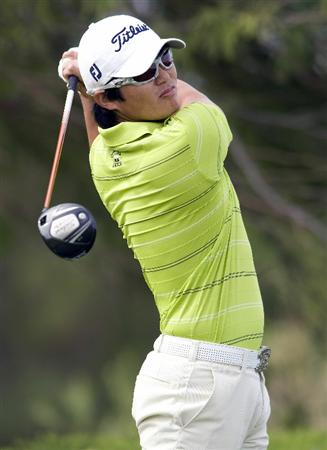 LAS VEGAS, NV - OCTOBER 23: Ryuji Imada of Japan tees off on the 2nd hole during the third round of the Justin Timberlake Shriners Hospitals for Children Open on October 23, 2010 in Las Vegas, Nevada. (Photo by Steve Dykes/Getty Images)