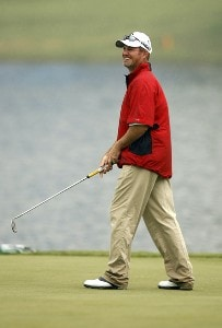 Jerry Kelly during practice for THE PLAYERS Championship held on THE PLAYERS Stadium Course at TPC Sawgrass in Ponte Vedra Beach, Florida, on May 9, 2007. PGA TOUR - 2007 THE PLAYERS Championship - Practice - May 9, 2007Photo by Hunter Martin/WireImage.com
