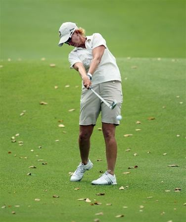 SINGAPORE - FEBRUARY 25:  Karrie Webb of the USA hits her second shot on the seventh hole during the second round of the HSBC Women's Champions at the Tanah Merah Country Club on February 25, 2011 in Singapore.  (Photo by Andrew Redington/Getty Images)