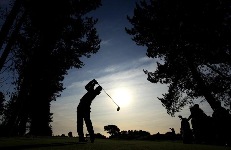 CARNOUSTIE, SCOTLAND - OCTOBER 01:  Trevor Immelman of South Africa drives off the 10th tee during the first round of The Alfred Dunhill Links Championship at Carnoustie Golf Club on October 1, 2009 in Carnoustie, Scotland. (Photo by David Cannon/Getty Images