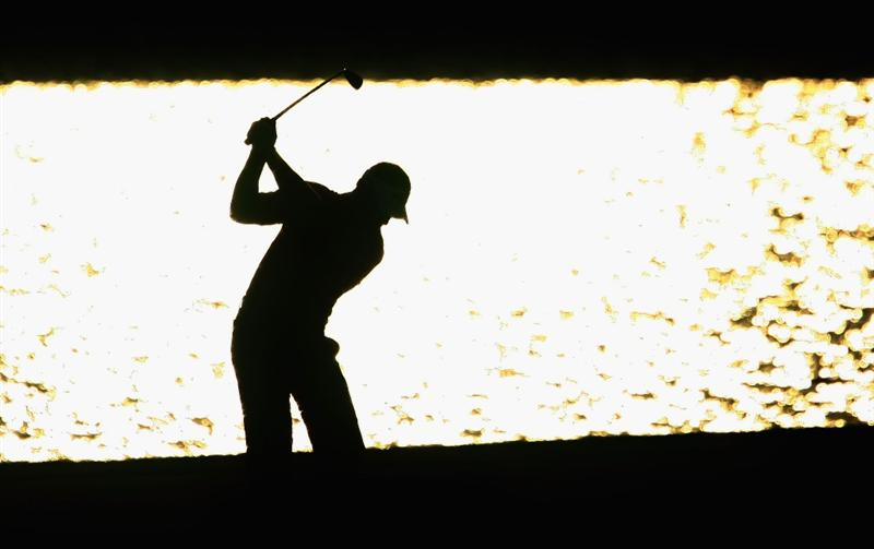PONTE VEDRA BEACH, FL - MAY 09:  Alex Cejka of Germany plays into the 18th green during the third round of THE PLAYERS Championship on THE PLAYERS Stadium Course at TPC Sawgrass on May 9, 2009 in Ponte Vedra Beach, Florida.  (Photo by Scott Halleran/Getty Images)