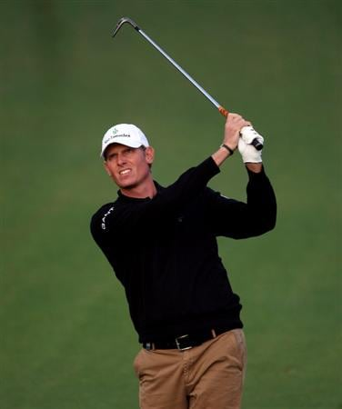 DOHA, QATAR - JANUARY 23:  Maarten Lafeber of The Netherlands hits his second shot on the sixth hole during the second round of  the Commercialbank Qatar Masters at Doha Golf Club on January 23, 2009 in Doha, Qatar.  (Photo by Andrew Redington/Getty Images)