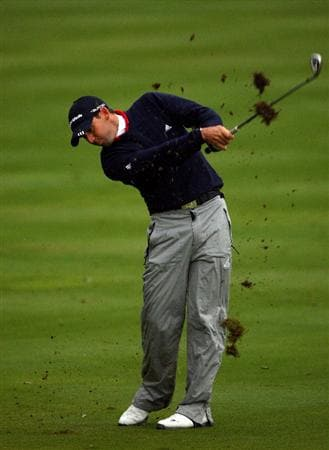 SOTOGRANDE, SPAIN - NOVEMBER 01:  Sergio Garcia of Spain hits his second shot on the first hole during the second round of the Volvo Masters at Valderrama Golf Club on November 1, 2008 in Sotogrande, Spain.  (Photo by Andrew Redington/Getty Images)