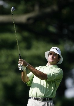 PARAMUS, NJ - AUGUST 23: Bubba Watson hits his second shot on the 12th hole during the third round of The Barclays at Ridgewood Country Club on August 23, 2008 in Paramus, New Jersey. (Photo by Hunter Martin/Getty Images)