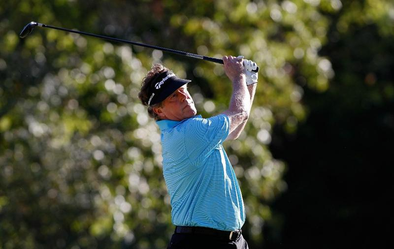 MADISON, MS - OCTOBER 03: Michael Allen hits his drive on the 16th hole during the final round of the Viking Classic held at Annandale Golf Club on October 3, 2010 in Madison, Mississippi.  (Photo by Michael Cohen/Getty Images)