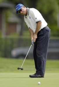 Joe Inman during the first round of the Commerce Bank Championship on the Red Course at Eisenhower Park in East Meadow, New York, on June 23, 2006.Photo by Steve Levin/WireImage.com